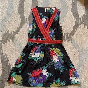 Silk summer dress in floral print